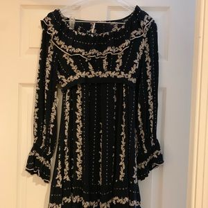 FREE PEOPLE Two Piece Skirt and Crop Top Set